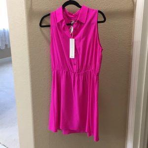Beautiful fuchsia dress 100% silk never worn